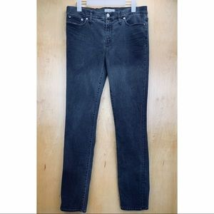 Madewell Alley Straight Dark Gray High Rise Jeans